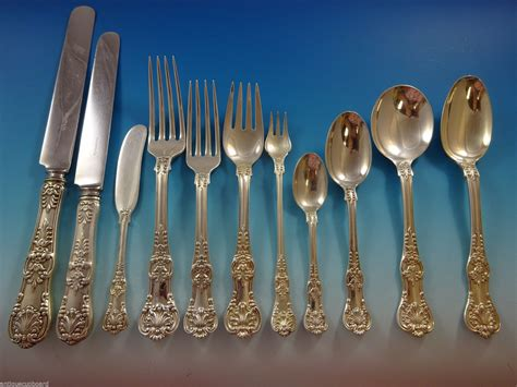 tiffany sterling king flatware silver english dinner pcs mobile