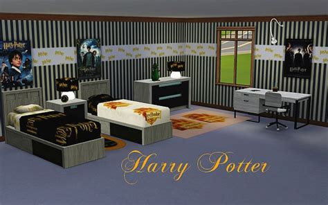 chambre harry potter les sims objets