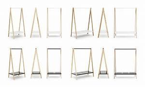 Portant Vetement En Bois : portant toj grand mod le larg 120 cm blanc normann copenhagen ~ Teatrodelosmanantiales.com Idées de Décoration