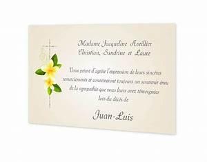 carte remerciements deces deuil fleurs jaunes With chambre bébé design avec remerciement deces fleurs
