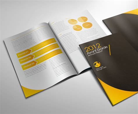 avant garde annual report  lemon graphic singapore