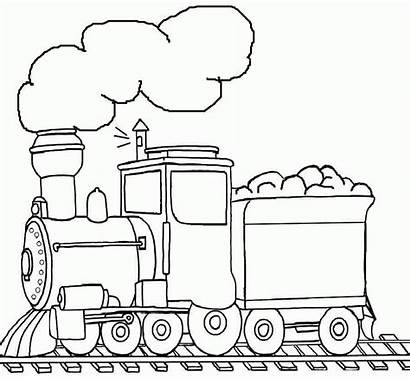 Coloring Transportation Preschool Train Colouring Printable Clipart