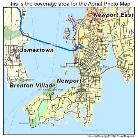 aerial photography map  newport ri rhode island
