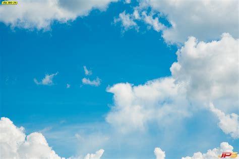 ภาพพื้นท้องฟ้าสีฟ้ากับเมฆปุยสีขาว รวมรูปท้องฟ้า วิวท้องฟ้า