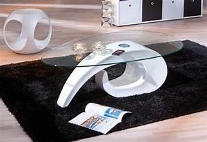Table Basse Blanche Et Verre : table basse design blanche en verre cohiba tables basses ~ Preciouscoupons.com Idées de Décoration