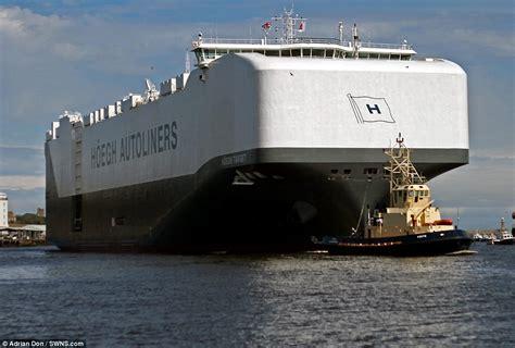 World's largest car transporter Hoegh Target arrives in UK