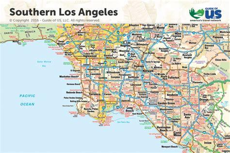 los angeles california maps