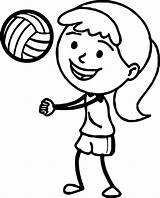 Volleyball Coloring Pages Drawing Printable Playing Players Sports Clipartmag Bump Pass Getdrawings sketch template