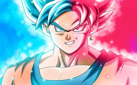 Goku Super Saiyan Blue X Super Saiyan God Download Art
