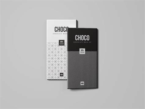 Create a realistic chocolate package mockup display in few seconds. A set of four chocolate bar mockups with different views ...