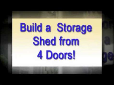 how to build a r for a shed build shed from four doors