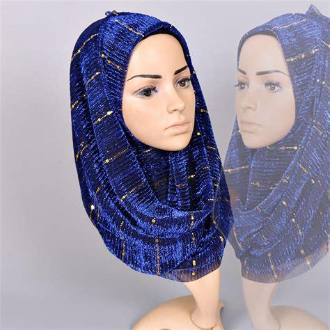 muslim scarf sequined shimmer headscarf hijab autumn shawl scarves shining bling  fashion