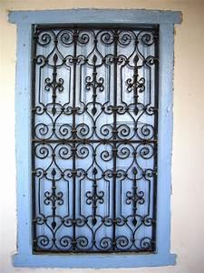 fenetre en fer forge tunisie With porte fenetre fer forgé