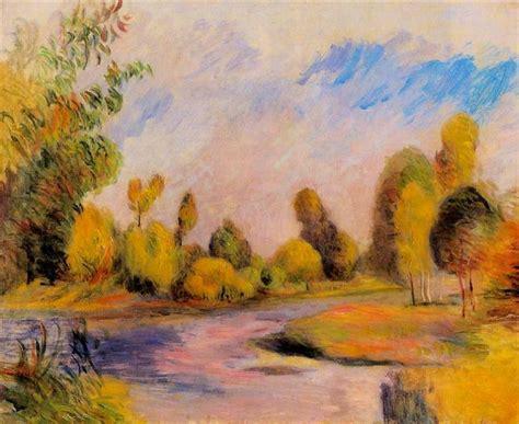Banks Of A River 1896 Pierre Auguste Renoir