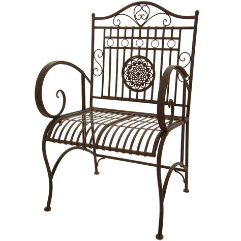 furniture rustic wrought iron garden chair rust