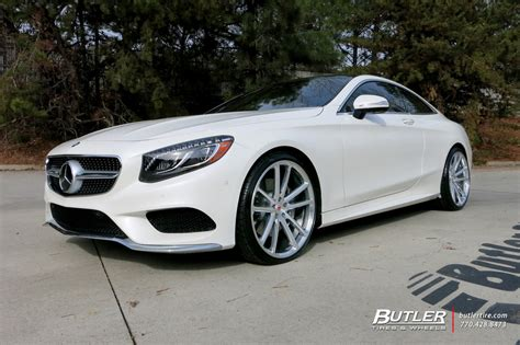 mercedes  class coupe   vossen cg  wheels