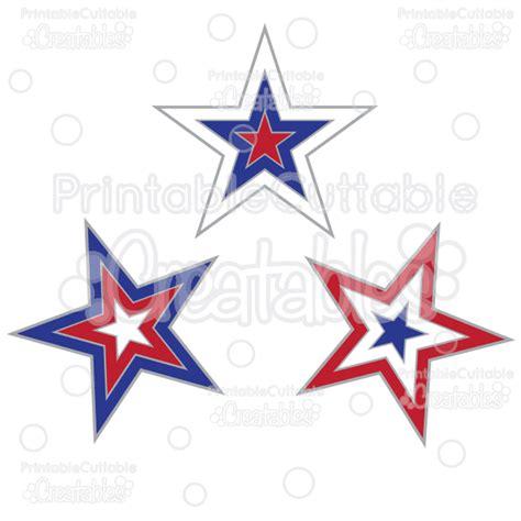 Patriotic Stars Free Svg Cut Files & Clipart