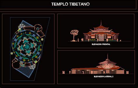 tibetan temple  autocad cad   mb bibliocad