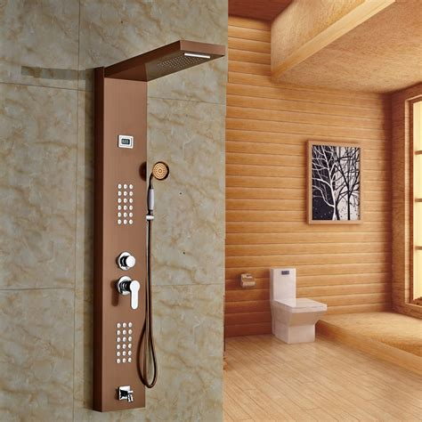 fontana rose gold finished wall mounted shower panel all in one installation manuals