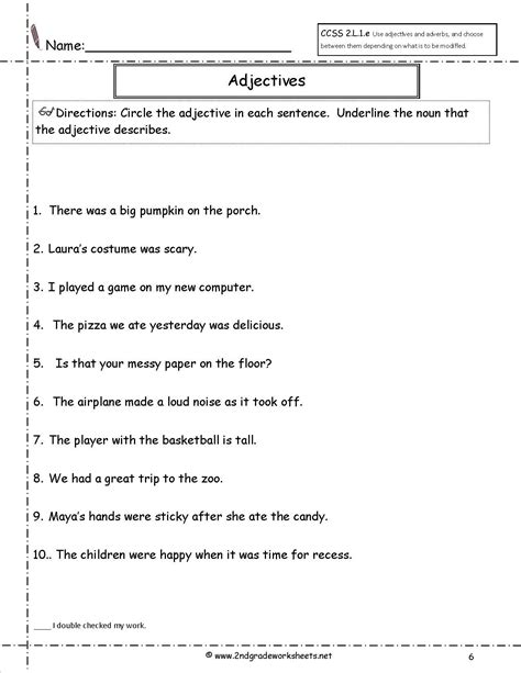 free adjective worksheets for year 2 adjective worksheet education worksheets
