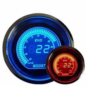 2 U0026quot  52mm Turbo Boost Vacuum Car Digital Led Meter Gauge