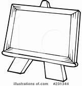 Easel Clipart Illustration Royalty Visekart Rf Artist Cliparts Clipground Illustrationsof sketch template