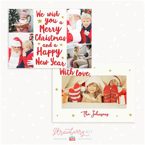merry christmas photoshop template quot we wish you a merry christmas quot lettering christmas card strawberry kit