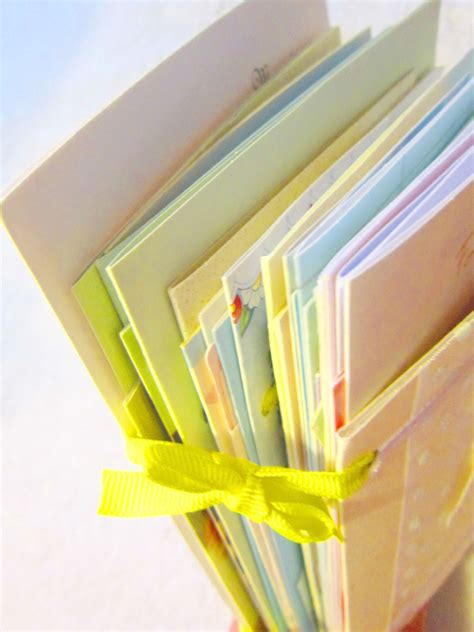 wedding cards turned into a keepsake book diy by miss