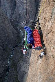 Mountain Climbing Rock Face Sleeping