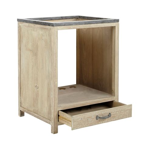 cuisine four a bois meuble bas de cuisine pour four en bois recyclé l 64 cm