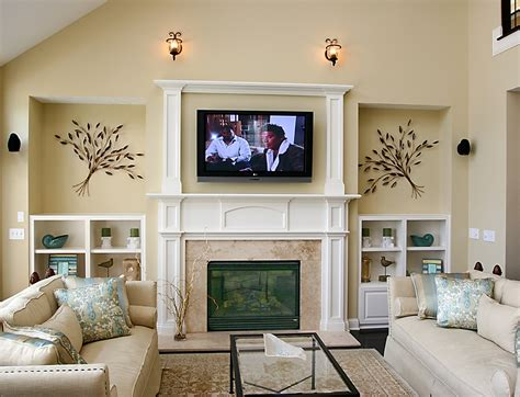 beautiful fireplace for tv 4 living room with tv above