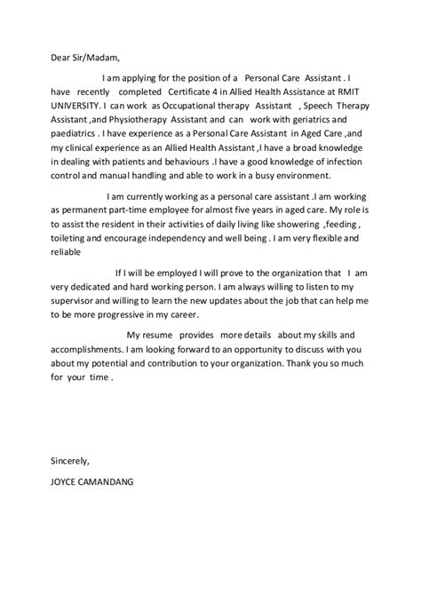 occupational therapy cover letter tomyumtumweb