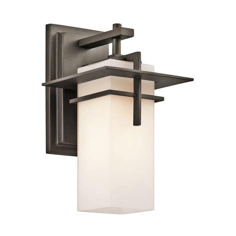 outdoor wall lighting kichler caterham outdoor wall light 49642oz
