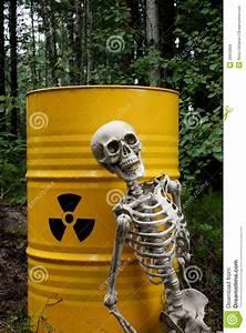 Radioactive Waste And Skeleton Royalty Free Stock Image