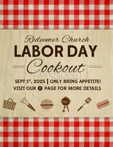 Labor Day Cookout Flyer Template