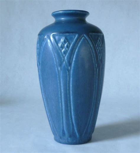 sale rookwood pottery   tall matt blue vase