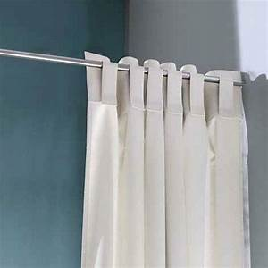 Rideau De Salle De Bain : rideau de douche blanc sincero ~ Premium-room.com Idées de Décoration