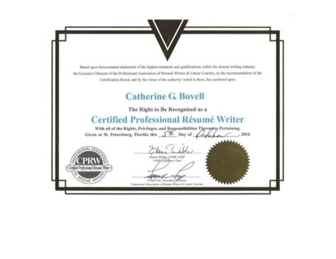 Certified Professional Resume Writers by Certified Professional R 233 Sum 233 Writer Cprw Certification