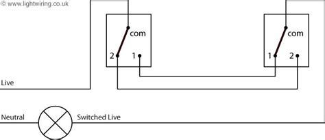 2 way lighting circuit diagram light wiring