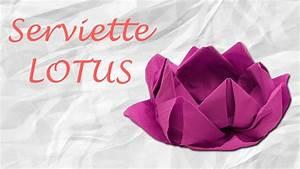 Fleur En Papier Serviette : origami pliage de serviette fleur de lotus youtube ~ Melissatoandfro.com Idées de Décoration