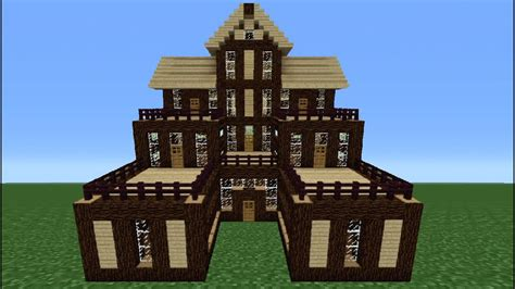 minecraft tutorial     wooden house  youtube