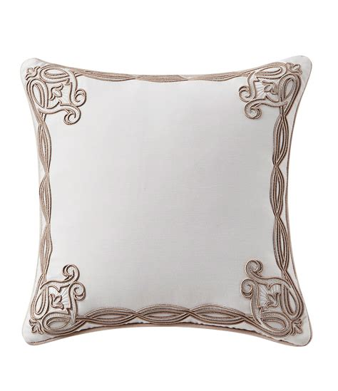 waterford pearl pillow ornament waterford belissa embroidered square pillow dillard s