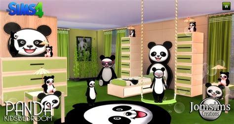 chambre bébé panda panda bedroom at jomsims creations sims 4 updates