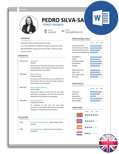 Resume Model by The Best Easy To Edit R 233 Sum 233 Cv Models In Word Noctula