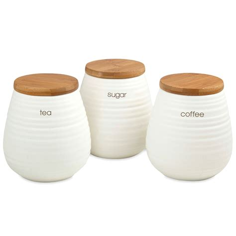 kitchen canister sets australia davis waddell tea coffee and sugar canister set 3pce