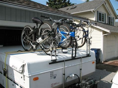 tent trailer bike rack bike rack build woodworking projects plans