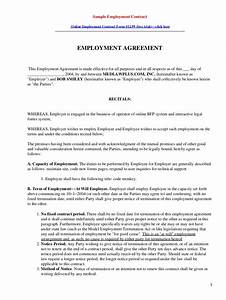 Sample employment contract for Sample employment contract letter