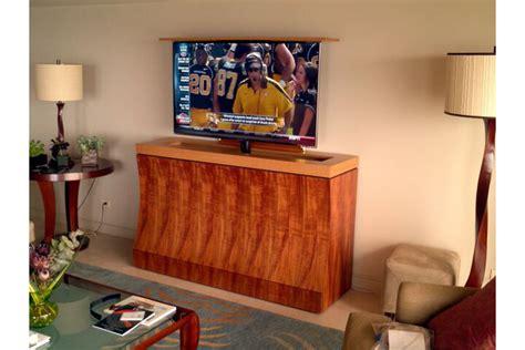 elevate unfinished motorized tv lift motorized tv lift cabinet fanti