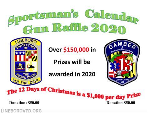 sportsmans calendars sale lineboro volunteer fire