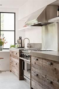 Meuble Cuisine Bois Brut : la cuisine bois brut adopte un look design moderne ~ Dailycaller-alerts.com Idées de Décoration